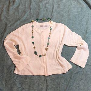 Luxe Sweaters - Luxe Designer Originals Soft Cream Cardigan